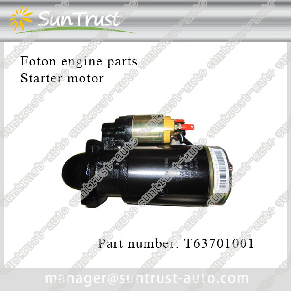 Foton engine parts, starter motor, T63701001