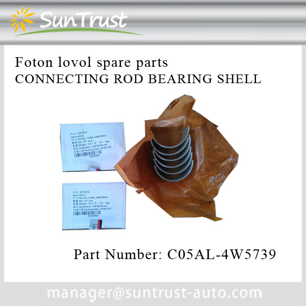 Foton Lovol heavy machine parts,CONNECTING ROD BEARING SHELL,C05AL-4W5739